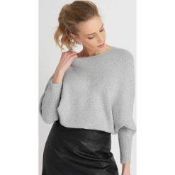 Swetry klasyczne damskie: Sweter nietoperz z cekinami