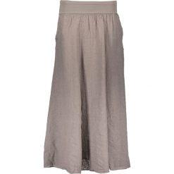 Spódnice wieczorowe: Lniana spódnica w kolorze szarobrązowym