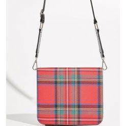 Torebka w kratę - Czerwony. Czerwone torebki klasyczne damskie marki Reserved, duże. Za 49,99 zł.