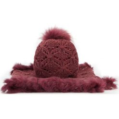 Komplet czapka + komin 87-SF-002-2. Czerwone czapki zimowe damskie Wittchen, na zimę, z dzianiny. Za 279,00 zł.