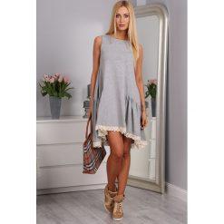Sukienki: Sukienka Jasnoszara 2571