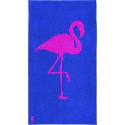 """Kąpielówki męskie: Ręcznik plażowy """"Flamingo"""" w kolorze niebiesko-różowym"""