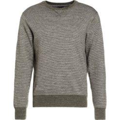 Swetry klasyczne męskie: J.CREW TEXTURED CREWNECK IN STRIPE Sweter heather parsley