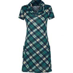 Innocent Roll Neck Dress Sukienka wielokolorowy. Niebieskie sukienki mini marki Innocent, xl, w ażurowe wzory, z materiału, z dekoltem na plecach. Za 164,90 zł.