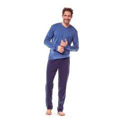 Piżama Golf 36215-59X Niebiesko-granatowa. Szare piżamy męskie marki Henderson. Za 103,90 zł.
