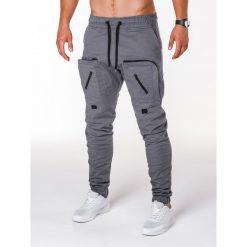 Spodnie męskie: SPODNIE MĘSKIE JOGGERY P705 – SZARE