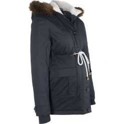 Kurtka ciążowa zimowa bonprix czarny. Czarne kurtki ciążowe bonprix, na zimę, z polaru. Za 239,99 zł.