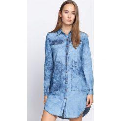 Niebieska Sukienka Unicorn Tears. Niebieskie sukienki marki Born2be, z jeansu. Za 59,99 zł.