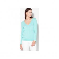 Bluzka K192 Zielony. Zielone bluzki longsleeves KATRUS, xl, z tkaniny, dekolt w kształcie v. Za 99,00 zł.