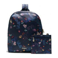 Desigual Plecak Damski Nova Madeira Ciemnoniebieski. Czarne plecaki damskie Desigual, z materiału. Za 350,00 zł.