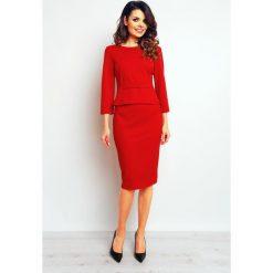 Spódniczki: Czerwona Elegancka Ołówkowa Spódnica