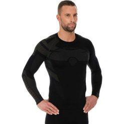 Bejsbolówki męskie: Brubeck Bluza męska Dry z długim rękawem czarna r. XL (LS13080)