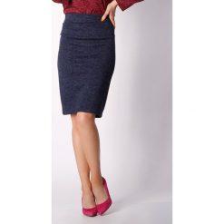 Spódniczki z wysokim stanem: Spódnica w kolorze granatowo-bordowym