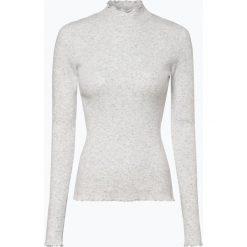 Review - Sweter damski z dodatkiem lnu, szary. Szare swetry klasyczne damskie marki Review, l, z tkaniny, z okrągłym kołnierzem. Za 159,95 zł.