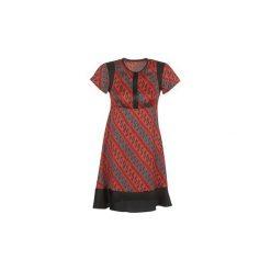 Sukienki krótkie Sisley  ZEBRIOLO. Czerwone sukienki mini Sisley, z krótkim rękawem. Za 335,20 zł.