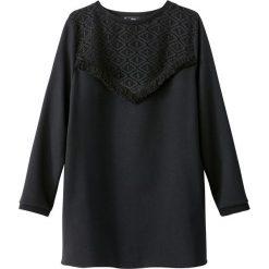 Bluza z frędzlami przy rękawach. Szare bluzy damskie marki La Redoute Collections, m, z bawełny, z kapturem. Za 124,70 zł.
