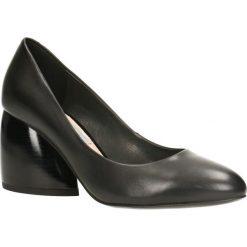 Czółenka LENA. Czarne buty ślubne damskie Gino Rossi, ze lnu. Za 379,90 zł.