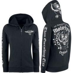 Bluzy rozpinane damskie: Motörhead England Bluza z kapturem rozpinana damska czarny