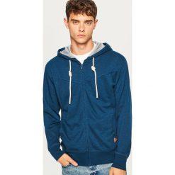 Bluza z kapturem - Granatowy. Niebieskie bluzy męskie rozpinane marki Reserved, l, z kapturem. Za 69,99 zł.