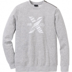 Bluza z zamkiem SLIM FIT bonprix jasnoszary melanż. Czarne bluzy męskie rozpinane marki bonprix. Za 74,99 zł.