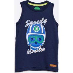 Nativo - T-shirt dziecięcy 104-164 cm. Niebieskie t-shirty męskie z nadrukiem marki Nativo, z bawełny, bez rękawów. W wyprzedaży za 21,90 zł.