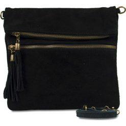 """Torebki i plecaki damskie: Skórzana torebka """"Perrine"""" w kolorze czarnym – 24 x 21 x 3 cm"""