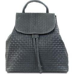 """Plecaki damskie: Skórzany plecak """"Faith"""" w kolorze szarym – 32 x 33 x 16 cm"""