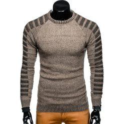 SWETER MĘSKI E138 - BEŻOWY. Zielone swetry klasyczne męskie marki Ombre Clothing, na zimę, m, z bawełny, z kapturem. Za 49,00 zł.