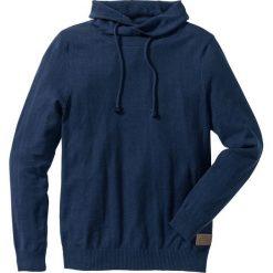 Sweter Regular Fit bonprix ciemnoniebieski melanż. Niebieskie swetry klasyczne męskie marki bonprix, l, z aplikacjami. Za 89,99 zł.