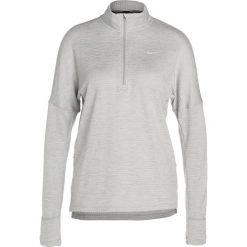 Topy sportowe damskie: Nike Performance RUNNING THERMA SPHERE Koszulka sportowa wolf grey/heather/silver