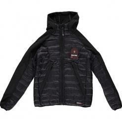 """Kurtka przejściowa """"Aube"""" w kolorze czarnym. Czarne kurtki chłopięce przejściowe marki Geographical Norway Kids & Women, z aplikacjami. W wyprzedaży za 226,95 zł."""