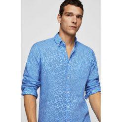 Mango Man - Koszula Laura. Niebieskie koszule męskie na spinki marki Mango Man, l, z bawełny, button down, z długim rękawem. W wyprzedaży za 99,90 zł.