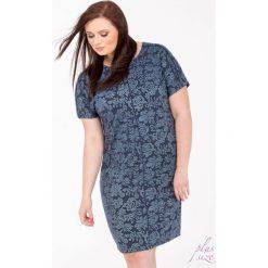 Sukienki hiszpanki: Sukienka z kwiatowym wzorem Plus