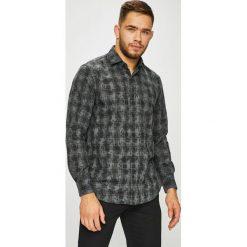 Pierre Cardin - Koszula. Szare koszule męskie na spinki marki Pierre Cardin, m, z bawełny, z włoskim kołnierzykiem, z długim rękawem. W wyprzedaży za 259,90 zł.