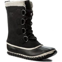 Śniegowce SOREL - Caribou Slim NL2649 Black 010. Czarne buty zimowe damskie Sorel, z gumy. W wyprzedaży za 339,00 zł.
