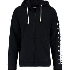 Napapijri BADSTOW FULL LOOSE FIT Bluza rozpinana black. Szare bluzy męskie rozpinane marki Napapijri, l, z materiału, z kapturem. W wyprzedaży za 399,20 zł.