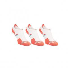 Skarpety sportowe RS500 3 pary. Białe skarpetki męskie marki ARTENGO, z bawełny. W wyprzedaży za 19,99 zł.