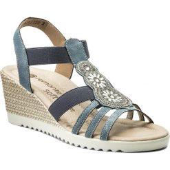 Rzymianki damskie: Sandały REMONTE BY RIEKER – D3461-12 Blau