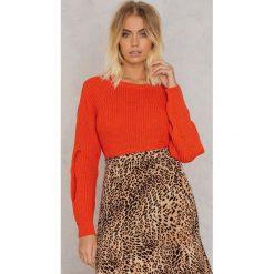 Swetry damskie: Trendyol Sweter z otwartym rękawem z detalem – Red,Orange