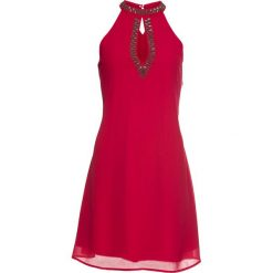 Sukienka z ozdobnymi perełkami bonprix czerwień granatu. Czerwone sukienki na komunię marki bonprix. Za 119,99 zł.
