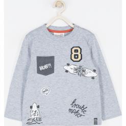 Koszulka. Szare t-shirty chłopięce z długim rękawem STREET VIBER, z aplikacjami, z bawełny. Za 49,90 zł.