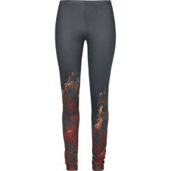 Spodnie damskie: Rock Rebel by EMP Built For Comfort Legginsy czarny