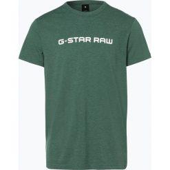G-Star - T-shirt męski – Loaq, zielony. Zielone t-shirty męskie marki G-Star, m, z napisami, z klasycznym kołnierzykiem. Za 99,95 zł.