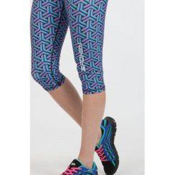 Spodnie sportowe damskie: Spokey Leginsy damskie Prato 3/4 fitness niebiesko-różowe r. L (839479)