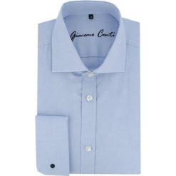 Koszula UGO slim KDNS000039. Szare koszule męskie na spinki marki S.Oliver, l, z bawełny, z włoskim kołnierzykiem, z długim rękawem. Za 229,00 zł.