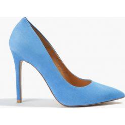Czółenka niebieskie Donna. Niebieskie czółenka Badura. Za 169,99 zł.