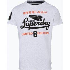 Superdry - T-shirt męski, niebieski. Niebieskie t-shirty męskie z nadrukiem Superdry, m. Za 149,95 zł.
