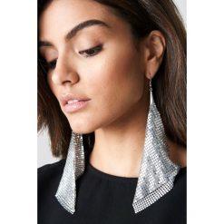 Kolczyki damskie: Hannalicious x NA-KD Kolczyki z metalowej siateczki - Silver
