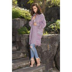 Swetry rozpinane damskie: Kolorowy sweter oversize