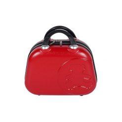 Kosmetyczki damskie: Kosmetyczka w kolorze czerwonym – (S)35 x (W)28 x (G)17 cm